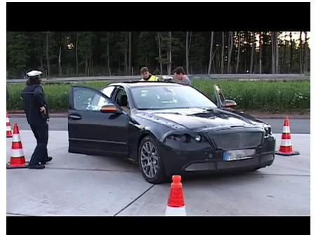 2011 BMW 5 Series F10 pulled over by Autobahn Police