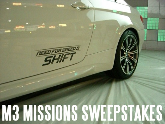 Win a BMW M3 with NFS Shift