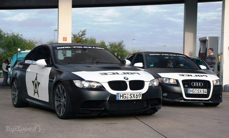 BMW M3 Police car spotted at Nurburgring