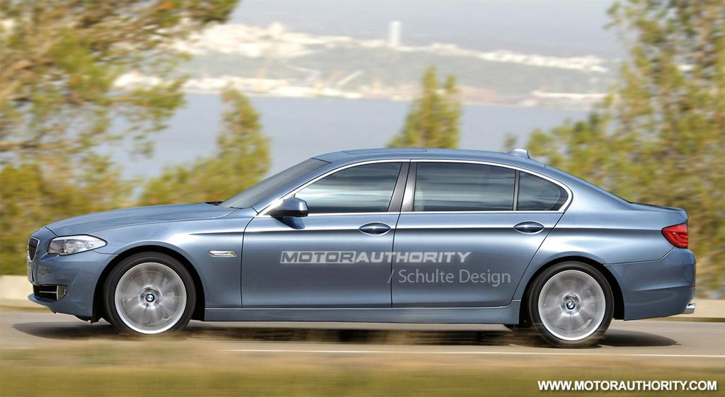 Rendered 2011 BMW 5 Series with Long Wheelbase Sedan