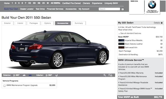 BMW 5 Series Online Configurator