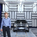 Dr. Robert Liebing, Acoustics engineer, and the MINI with Active Sound Design