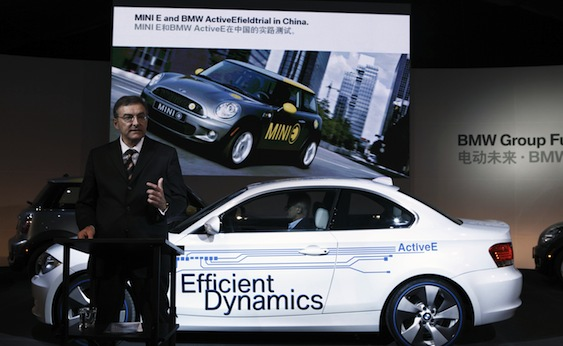 Norbert Reithofer and the BMW ActiveE