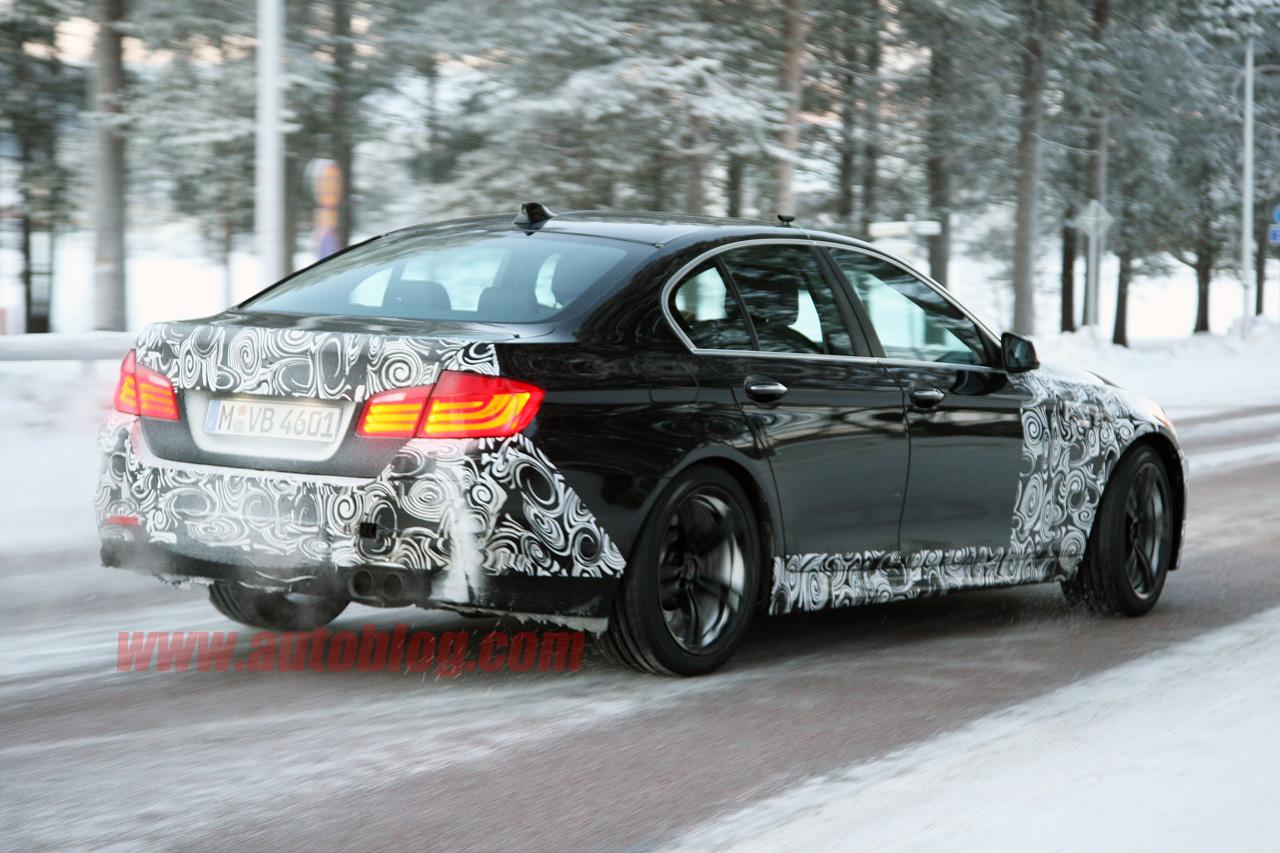 2011 BMW M5 F10 spied