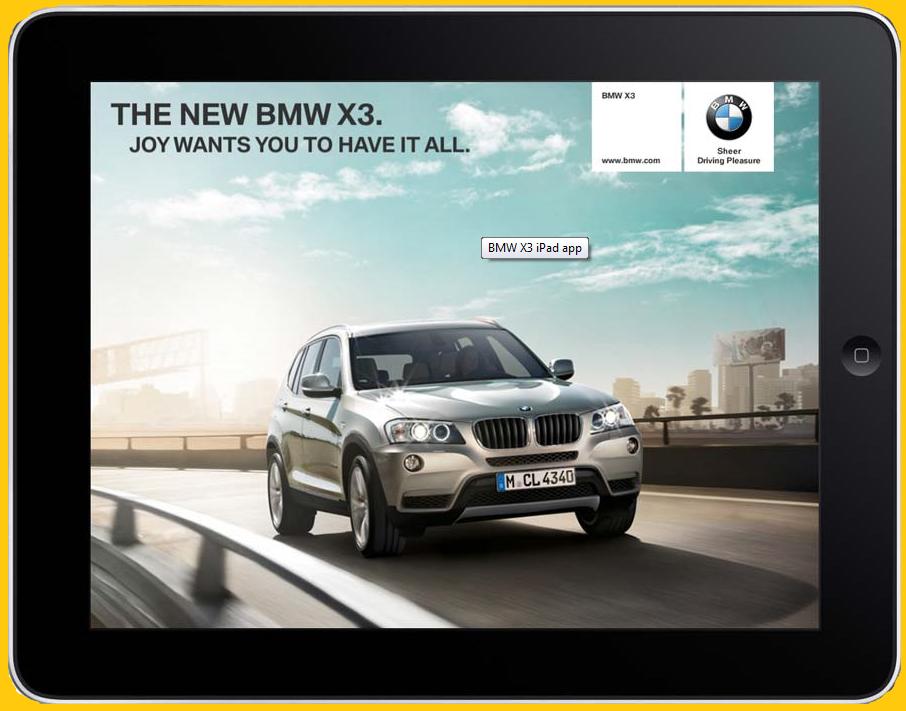BMW X3 iPad