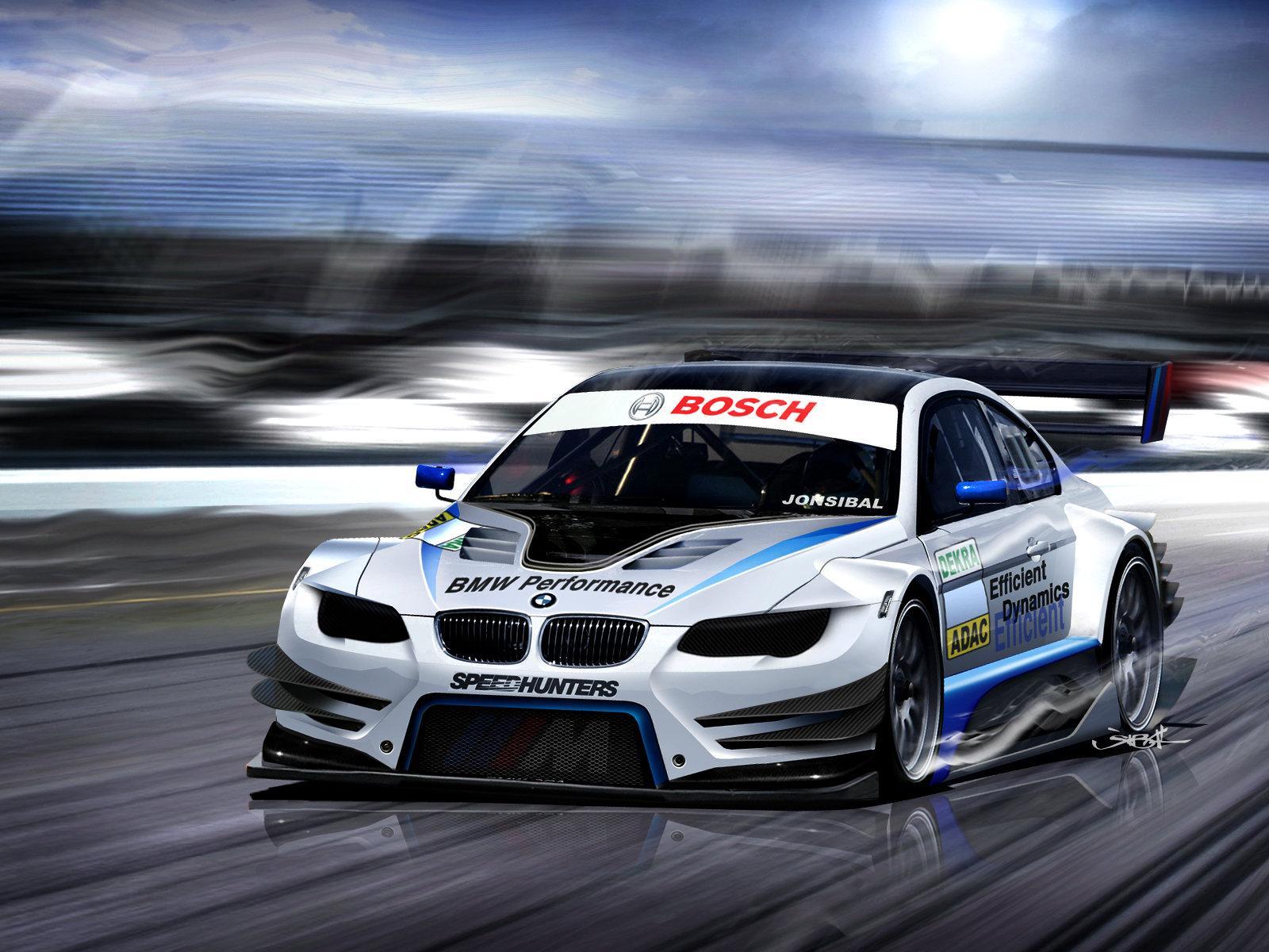BMW M3 E92 DTM rendering by Jon Sibal