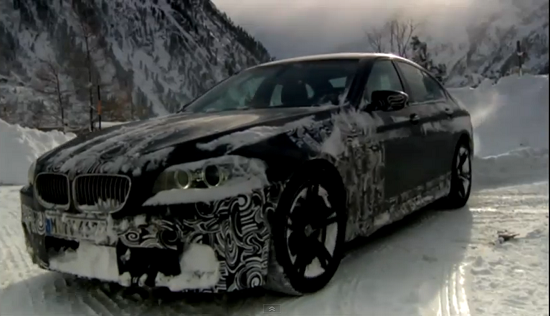 VIDEO: BMW engineers testing the new M5 F10 on snow