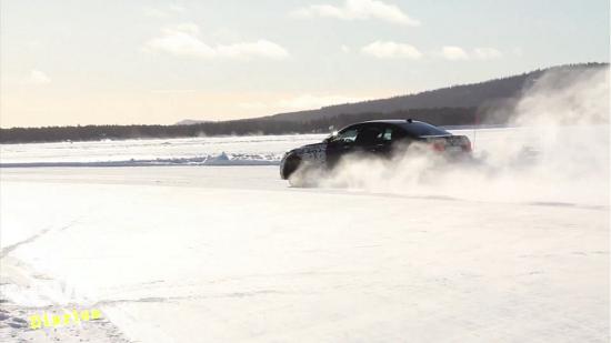 BMW M5 F10 on ice