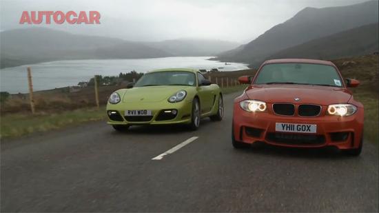 BMW 1 Series M Coupe vs. Porsche Cayman R