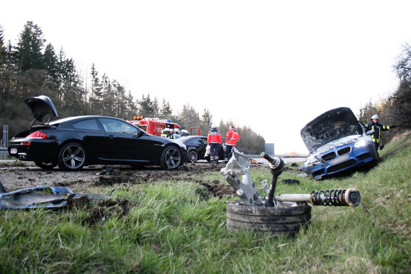 Crashed F10 BMW M5