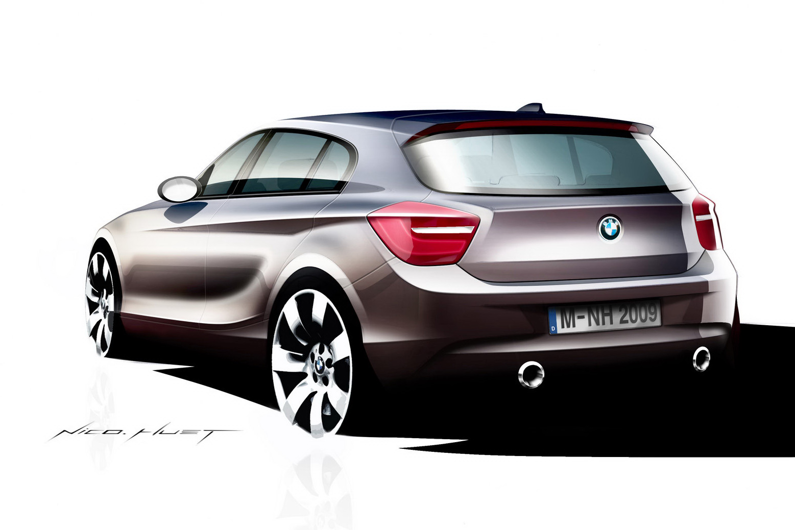 F20 BMW 1 Series sketches