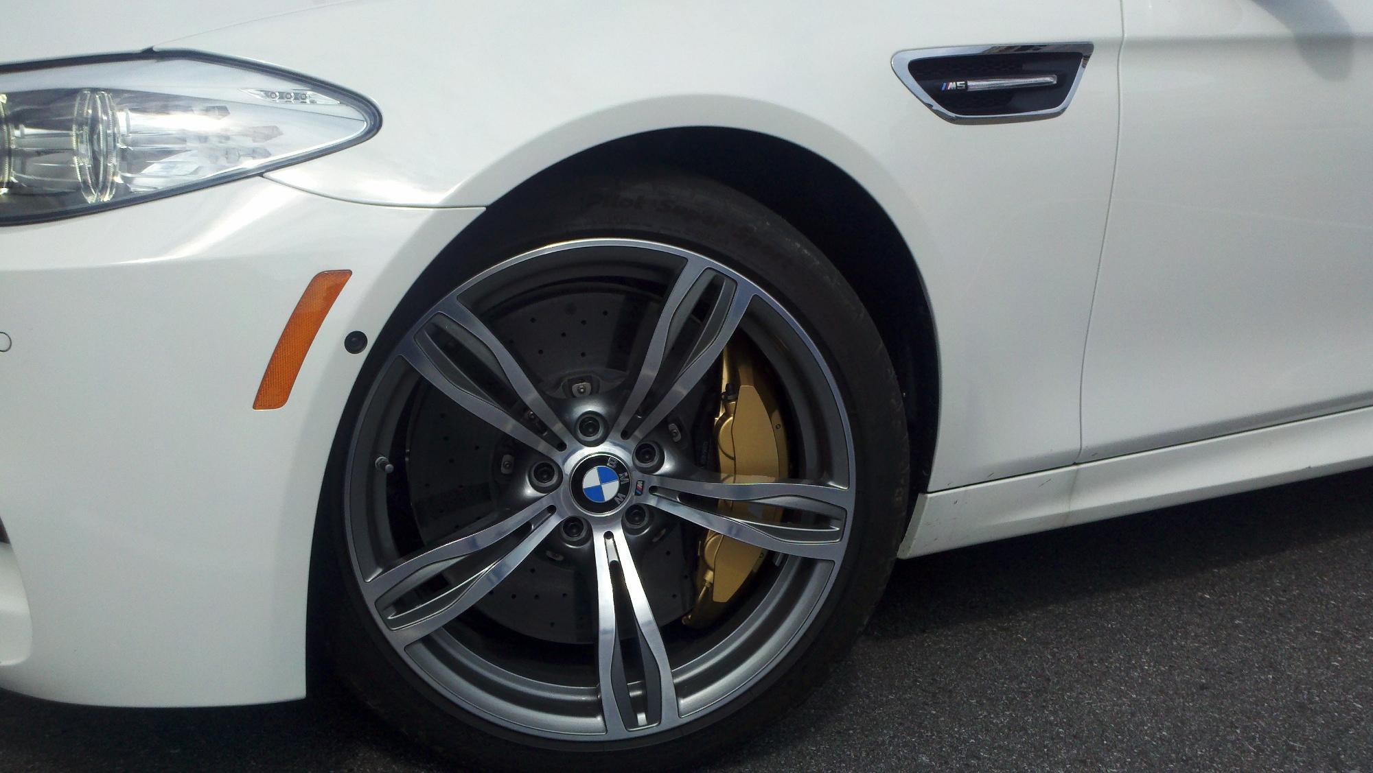 F10 BMW M5 ceramic brakes