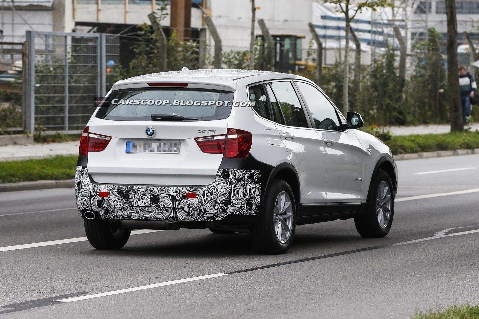 F25 BMW X3 facelift spied