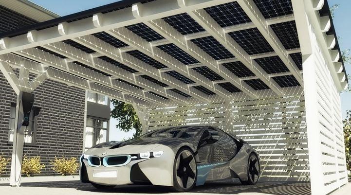 BMW and Solarwatt Carport