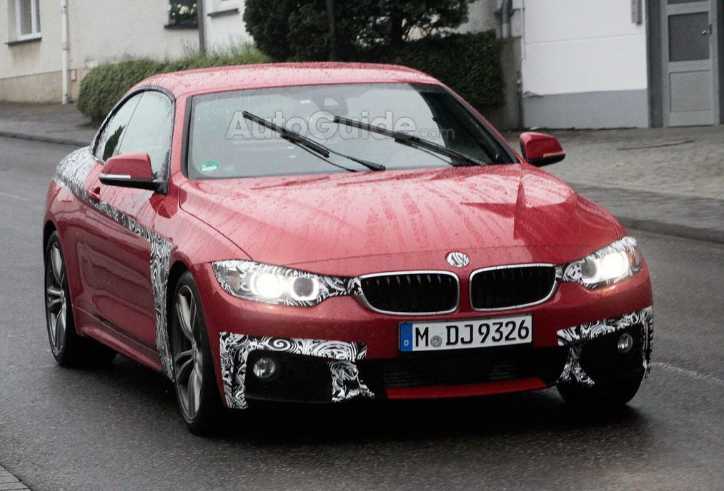 Nearly naked new BMW 4 Series caught on camera
