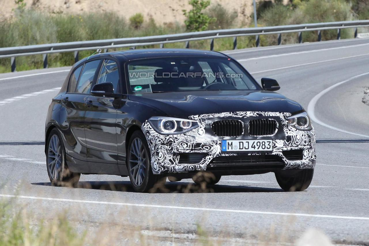 2014 BMW 1 Series facelift spied
