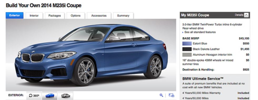 2014 BMW 2 Series Configurator Launched Online
