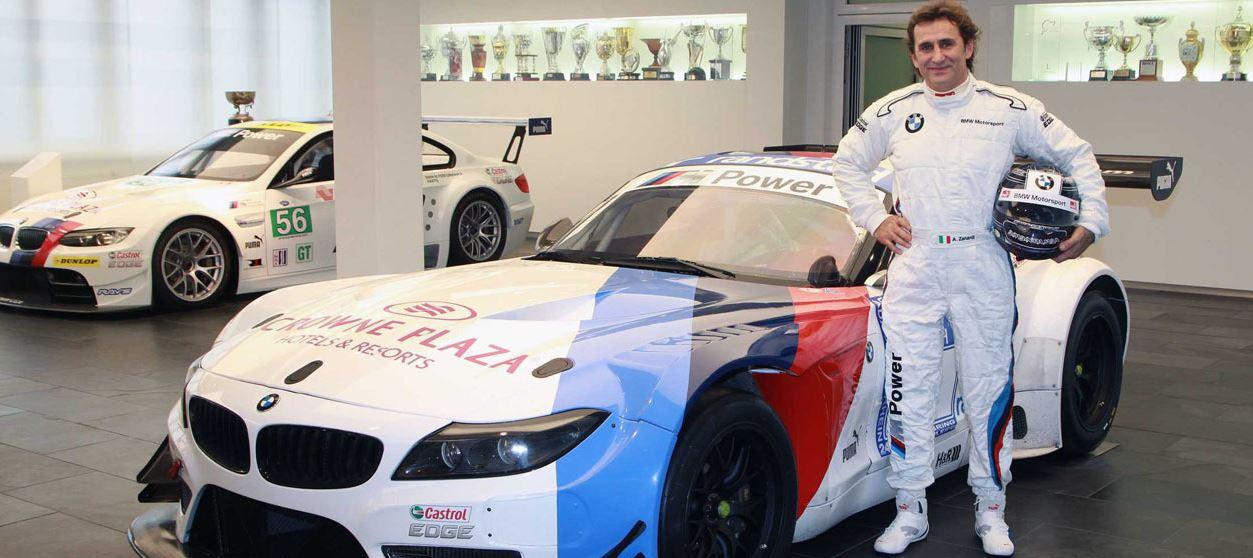 Alex Zanardi behind the BMW`s Wheel Again
