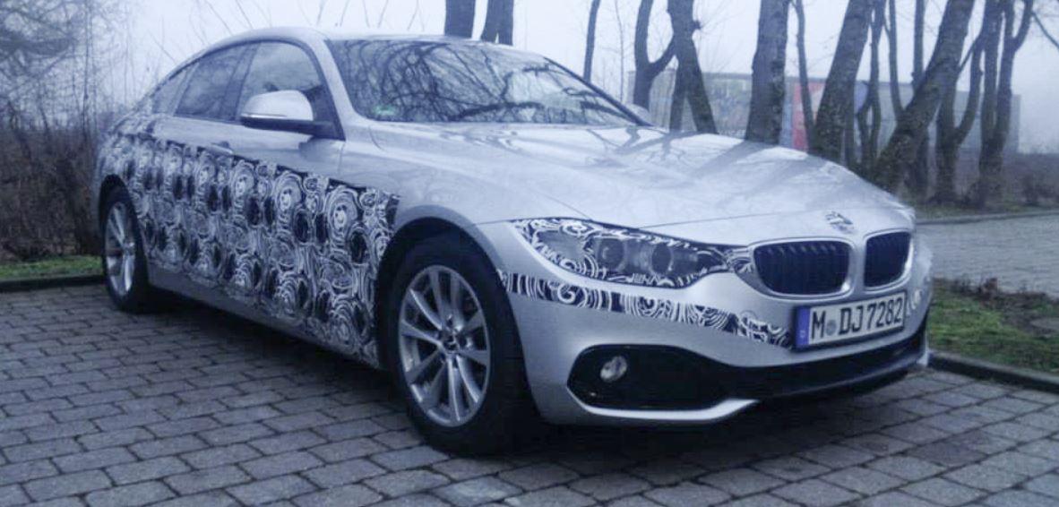 BMW 4-Series Gran Coupe Spied Round the Corner