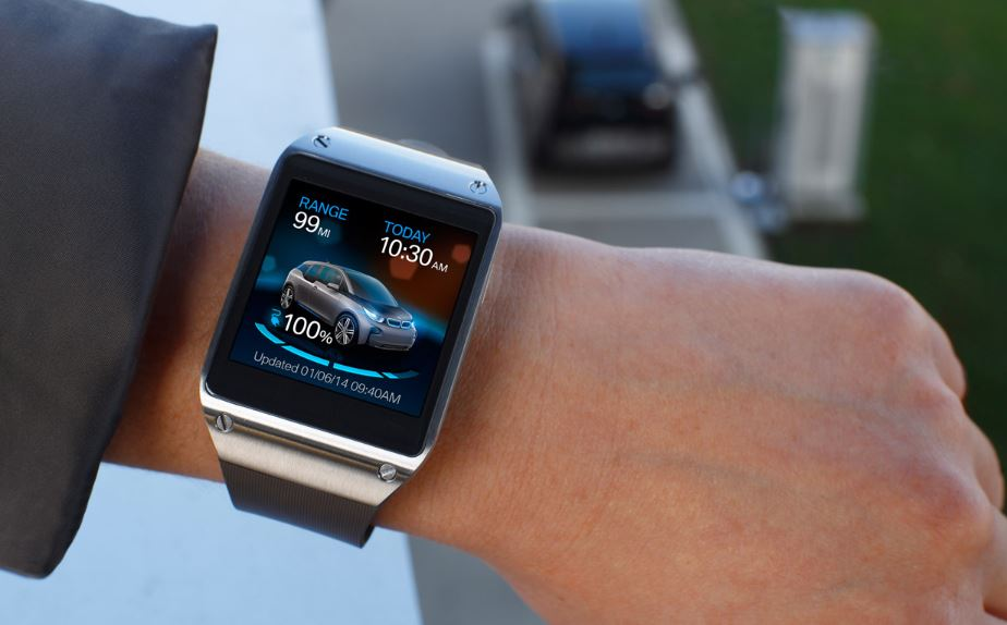BMW and Samsung Galaxy Gear Together at CES 2014