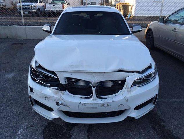 Crashed BMW M235i