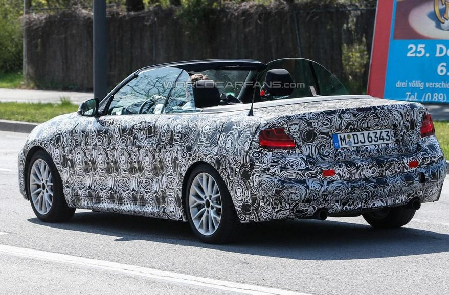 BMW 2 Series Convertible spied