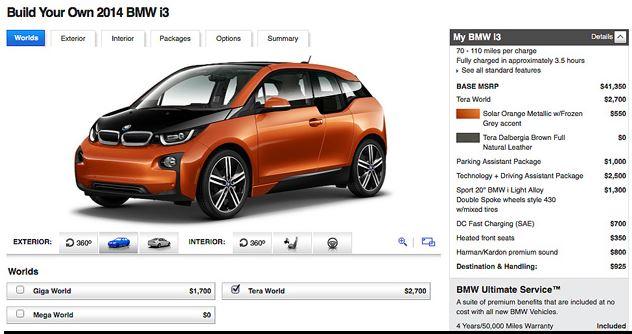 BMW i3 Configurator