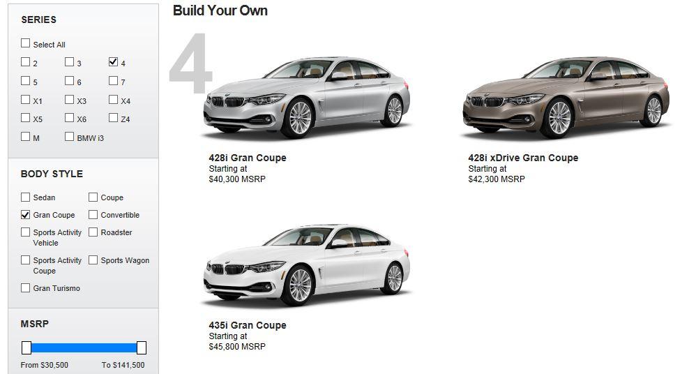 BMW 4-Series Gran Coupe Online Configurator