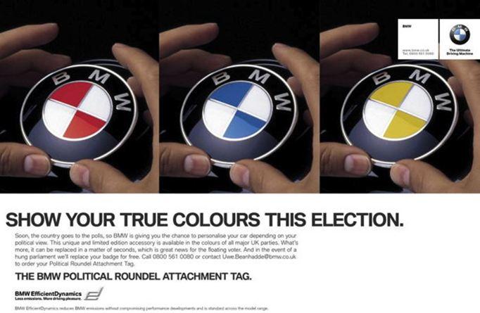 BMW Badges with Political Allegiances