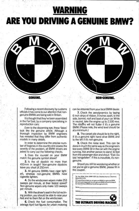 BMW - Genuine or not