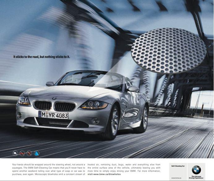 BMW - Self cleaning car