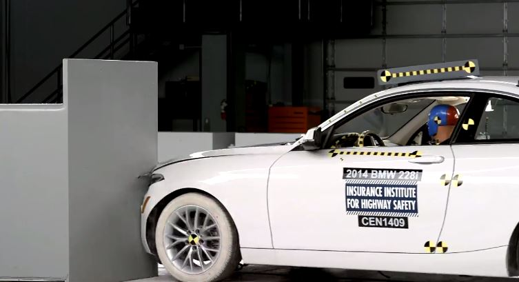 BMW 2 Series small overlap test