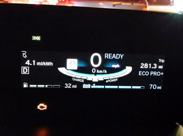 BMW i3 REx check engine light