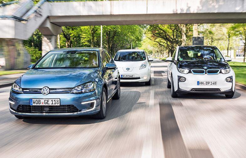 BMW i3 vs. Nissan Leaf vs. VW e-Golf