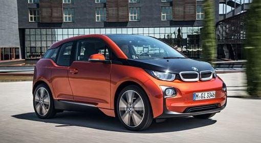BMW i3 with i DC Fast Charger