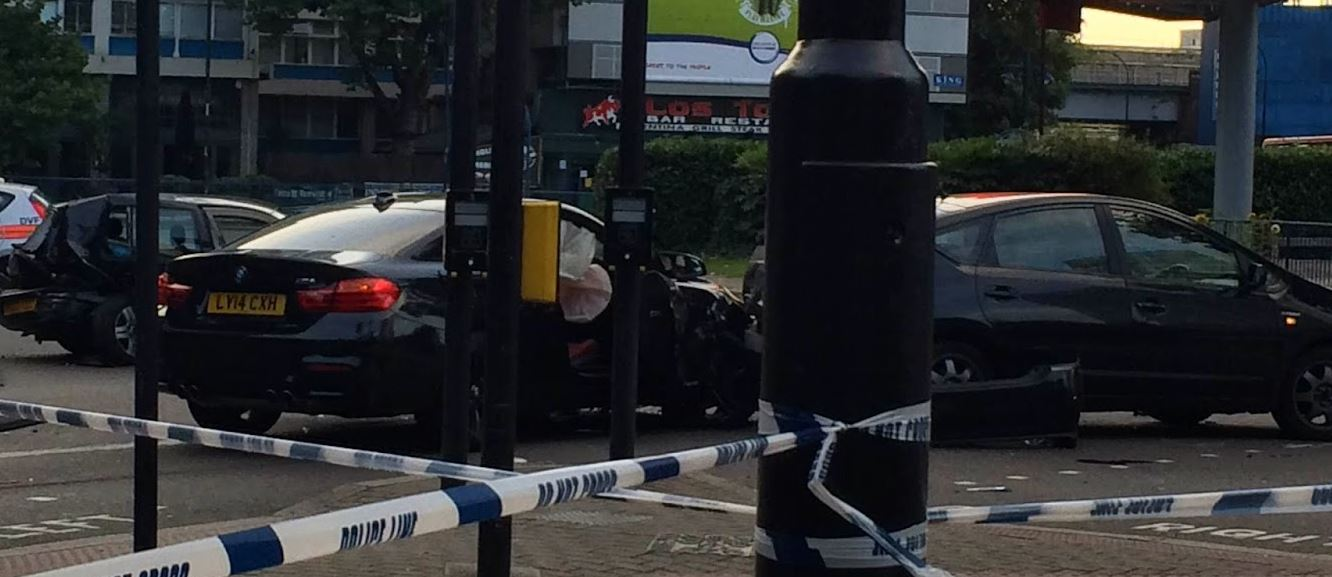 BMW M4 Coupe Crashes in London