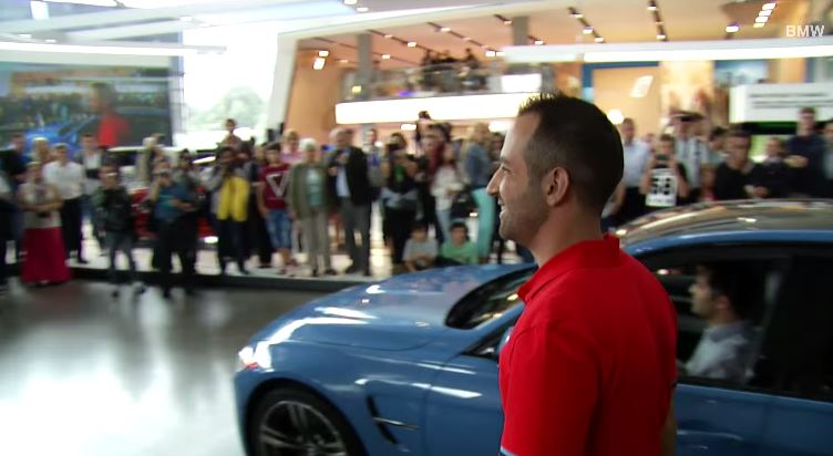 BMW Welt marriage proposal