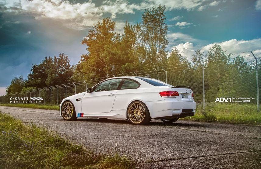 BMW E92 M3 Alpine White on ADV15 MV.2 Wheels