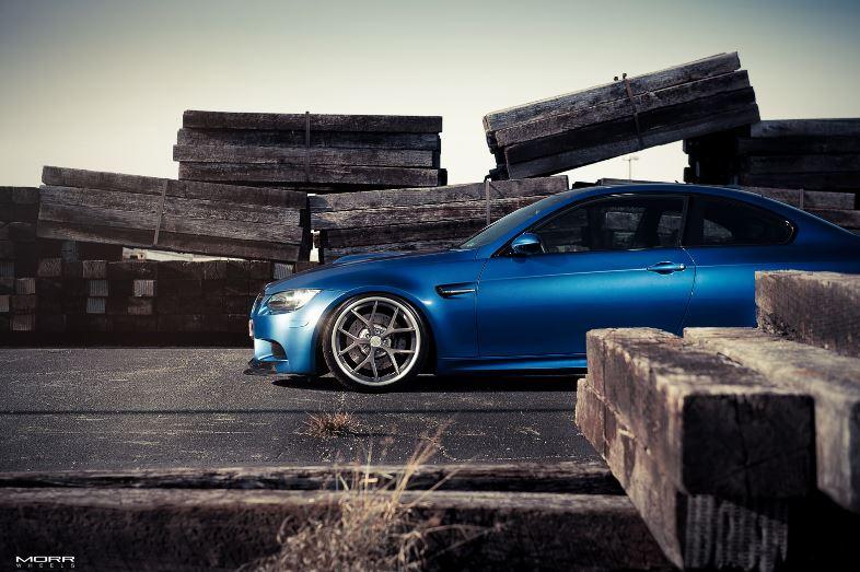 BMW M3 Individual Monte Carlo Blue on MORR Wheels