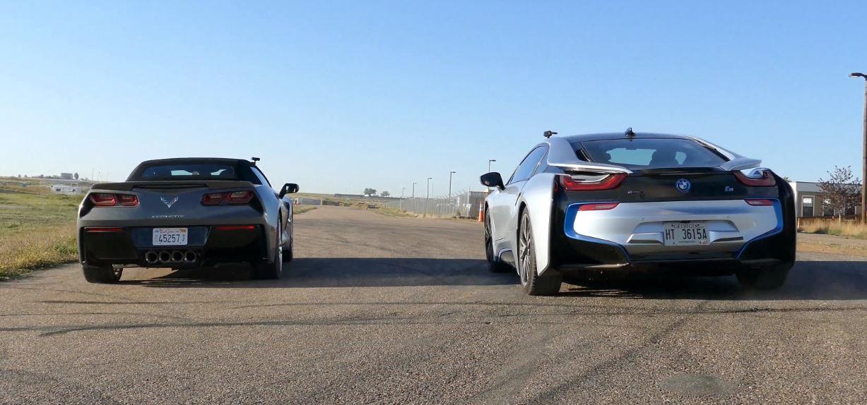 BMW i8 vs. Corvette Stingray