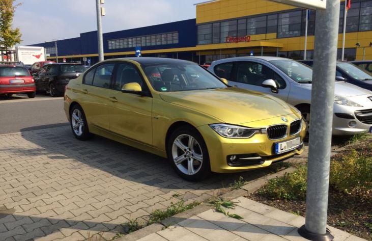 F30 BMW 3-Series in Austin Yellow