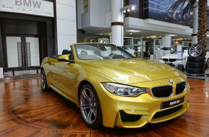 2014 BMW M4 Convertible in Austin Yellow