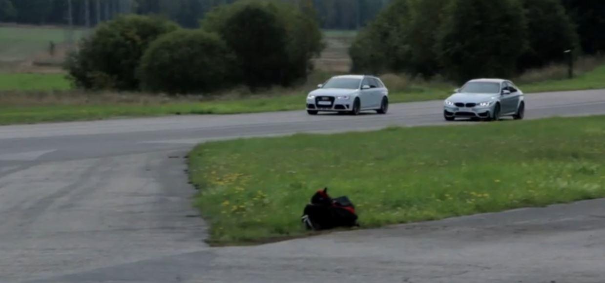 BMW F80 M3 Sedan vs. Audi RS4 Avant in Drag Race