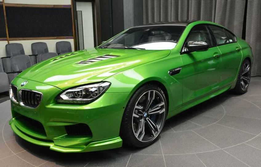 BMW M6 Gran Coupe Java Green Showcased at BMW Abu Dhabi Motors
