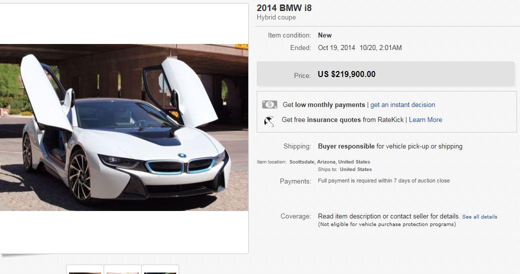 BMW i8 on eBay