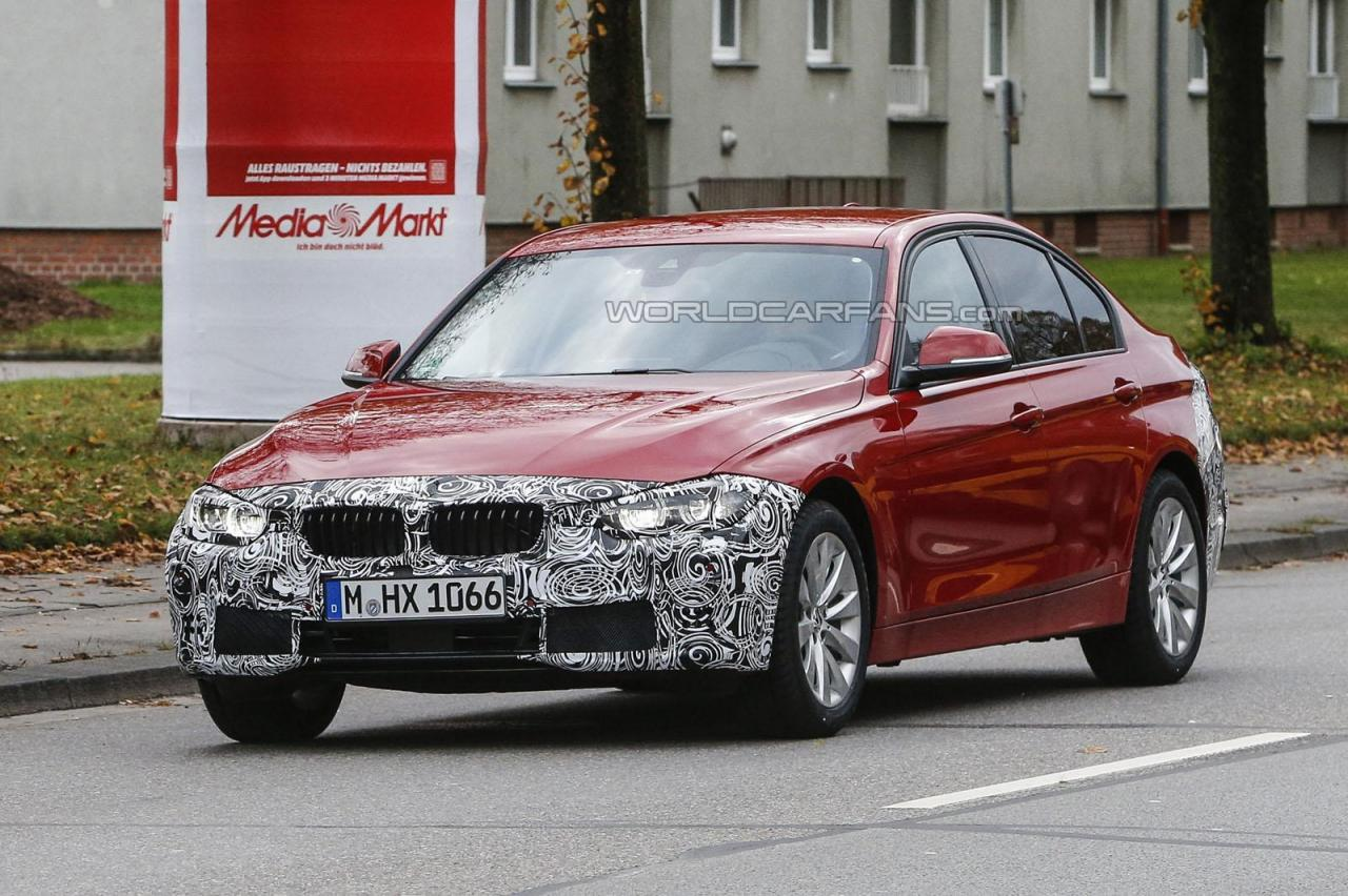 2015 BMW 3-Series facelift spied