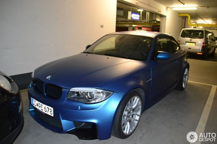 BMW 1M Frozen Blue Revealed
