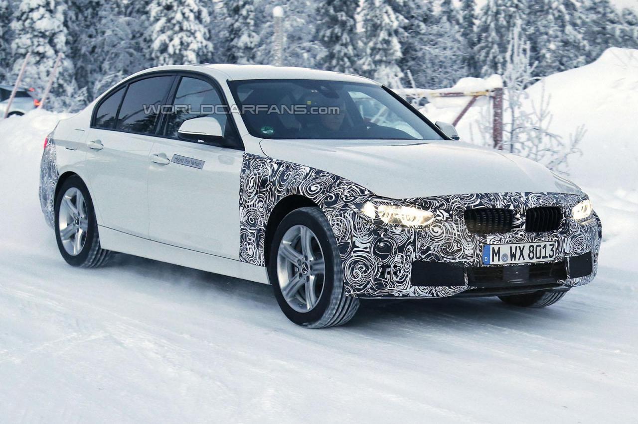 BMW 3-Series Plug-in hybrid spy image