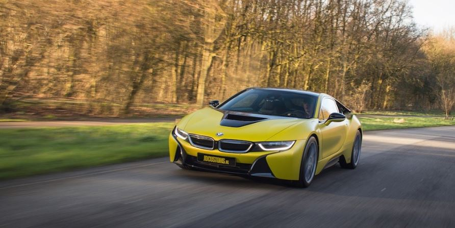 BMW i8 Frozen Yellow by JD Customs