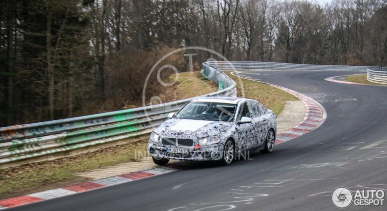 2017 BMW 1-Series Sedan on Tests at Nurburgring